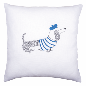 Embroidery Kit: Cushion: Dog Paris
