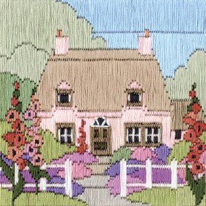 Hollyhock Cottage Long-Stitch Kit