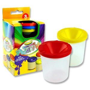 3 Non Drip Paint & Water Pots
