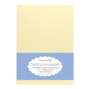 "Cream Card & Envelopes 5""x7"""