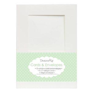 """White Card & Envelopes Window 5""""x7"""""""