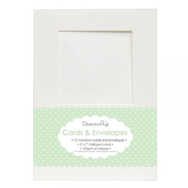 "White Card & Envelopes Window 5""x7"""
