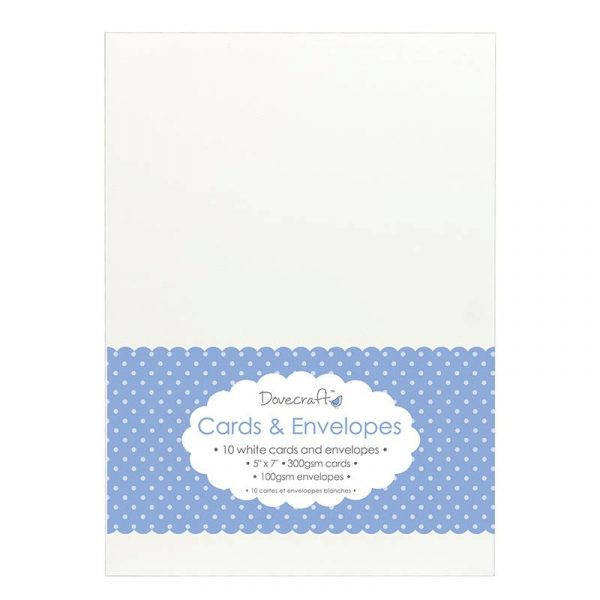 "White Card & Envelopes 5""x7"""