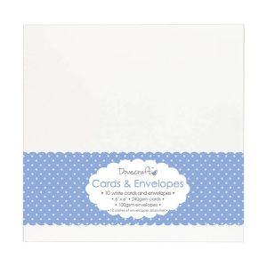 "White Card & Envelopes 6""x6"""