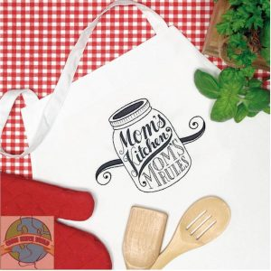 Embroidery Apron - Moms Kitchen