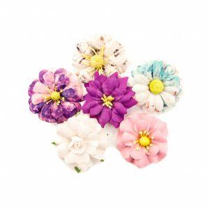 6 pcs - 2in / paper flowers