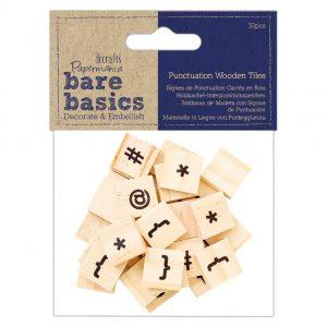 Wooden Tiles - Punctuation