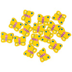 Rico Design Wooden Butterfly Beads