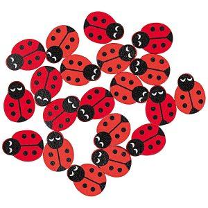 Rico Design Wooden Ladybird Beads