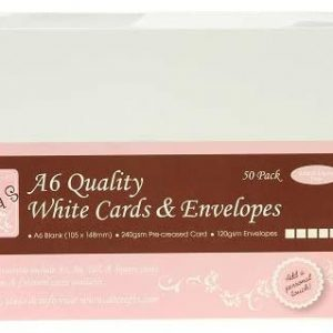 A6 Quality White Cards and Envelopes