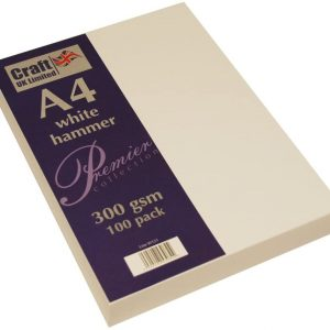 A4 White Hammer paper 300gsm