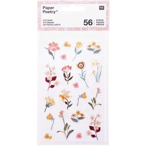 Paper Poetry Mauve Flower Stickers