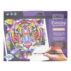 Paint By Numbers - Tiger Rainbow