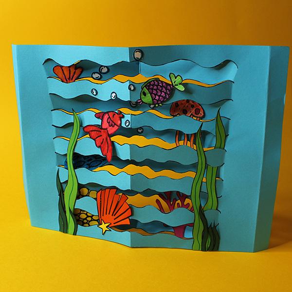 3d Paper Aquarium