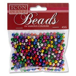 Icon Craft 45g Bag Metallic Beads