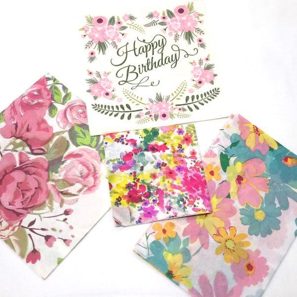 Watercolour Decoupage Napkin Set