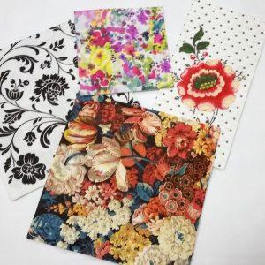Floral Decoupage Napkin Set