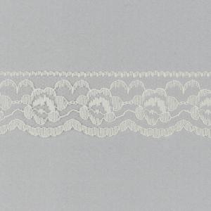 Ivory Nylon Lace Trim 35mm