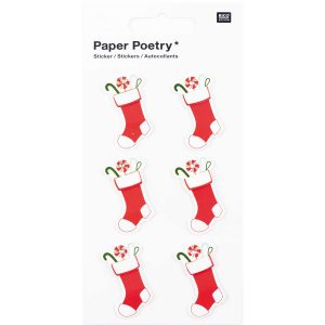 3D Christmas Stocking Stickers