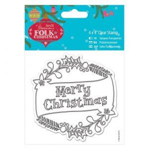 Christmas Stamp Merry Christmas