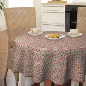 Oilcloth - Grey With Red Spot