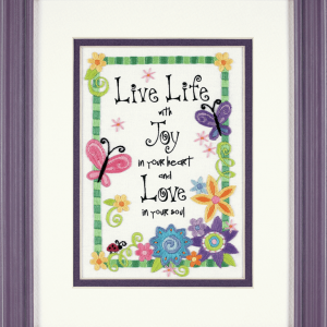 Live Life Embroidery Kit