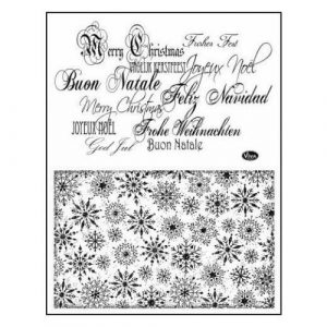 Silicone Stamp Set Background And Sentiments