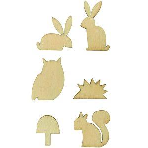 Wooden Decoration Set - Animals