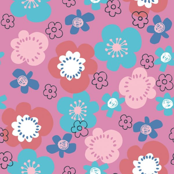 Furry Friends Cats - Pink 2777-04