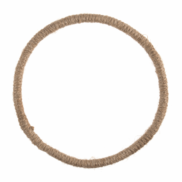 Jute-Wrapped Wire Wreath Base