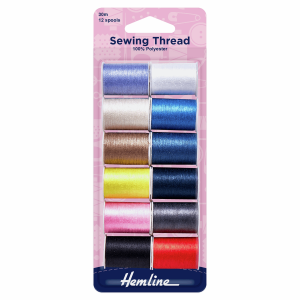 Sewing Threads - 12 Spools