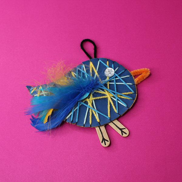 DIY Yarn Bird