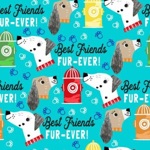 Best Friends Fur-Ever - Turquoise