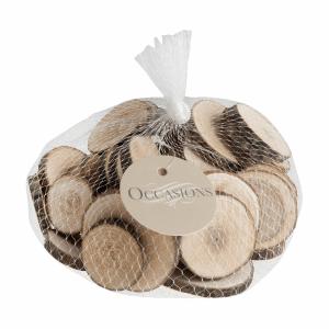 200g Bag Medium Round Wooden Slices 4-6cm