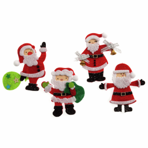 Assorted Santas Craft Embellishment